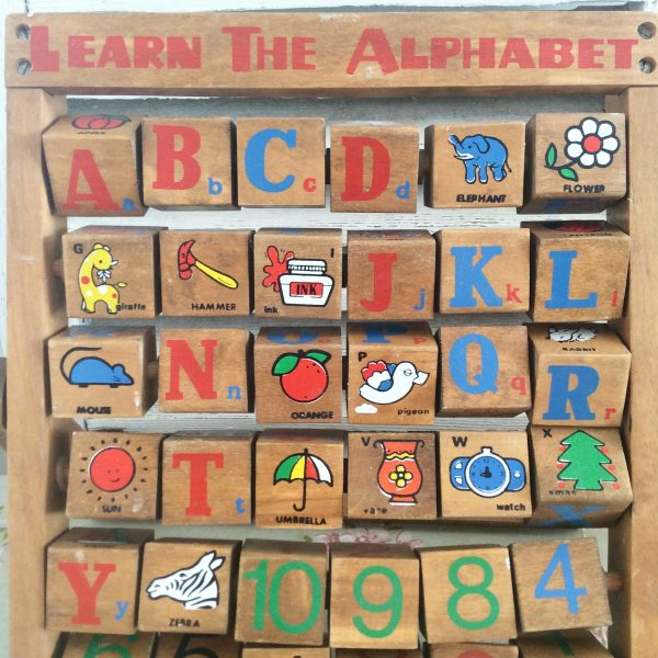 "Beautiful vintage ""Learn the Alphabet"" toy"