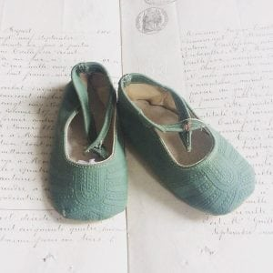 Pretty pastel coloured vintage child's shoes