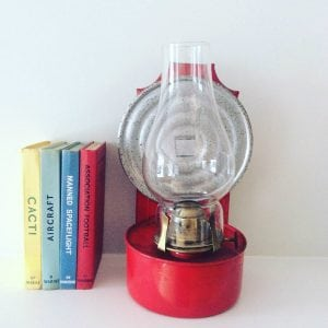 Stunning red wall mountable oil lamp