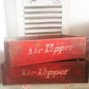 Old advertising crate