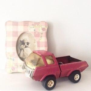 Fabulous vintage pink Tonka truck