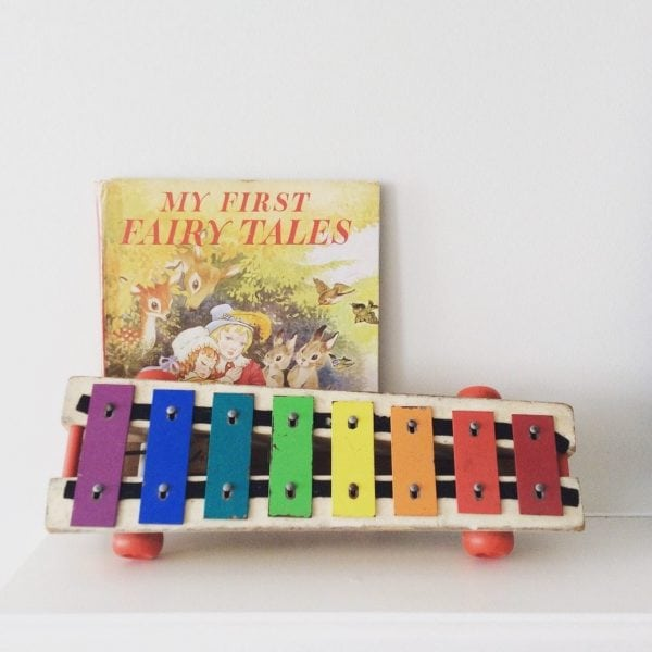 little 1960's Pull A Tune toy xylophone