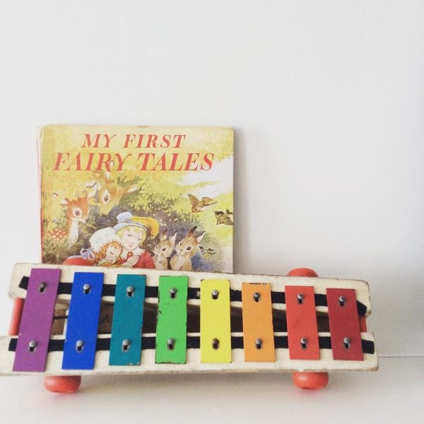 Vintage 1964 Pull A Tune toy xylophone.