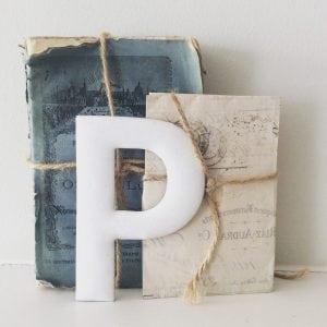 Gorgeous old enamel letter