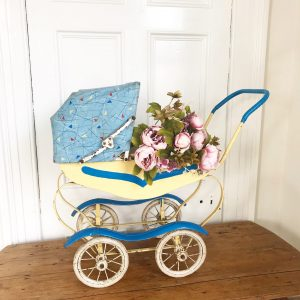 Lovingly playworn vintage dolls pram