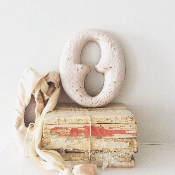 Stunning cast iron reclaimed letter - O