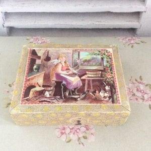 Sweet little set of vintage picture puzzle blocks