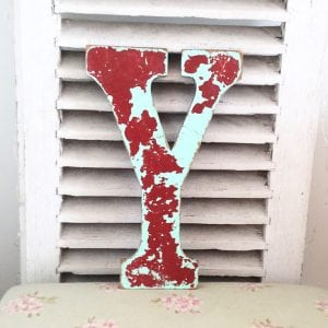 Funky reclaimed wooden shop letter