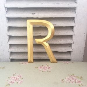 Beautiful vintage gold letter (R)