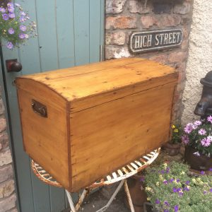 Stunning vintage dome top trunk