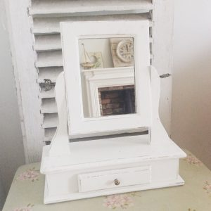Charming vintage French boudoir mirror