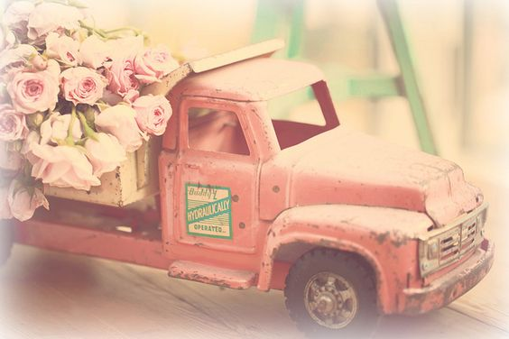 Vintage Pink Toy Truck