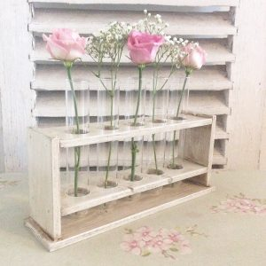 Beautiful little handmade test tube rack
