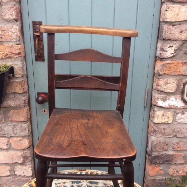 Wonderful old chapel chair