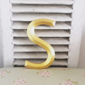 Beautiful vintage gold letter (S)