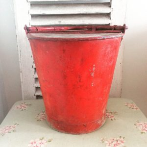 Wonderfully worn vintage fire bucket