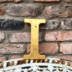 Lovely gold reclaimed pub letter (I)