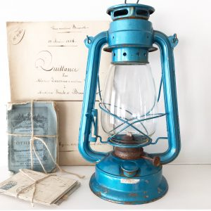 Beautiful old hurricane lamp