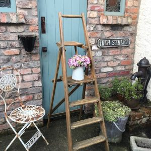 Lovely set of unusual large vintage stepladders