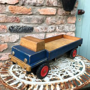 Wonderful old wooden toy truck