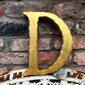 Beautiful reclaimed gold shop letter (D)