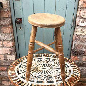 Beautiful original antique Victorian farmhouse turned leg stool
