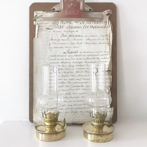 Sweetest pair of gorgeous vintage brass oil lamps
