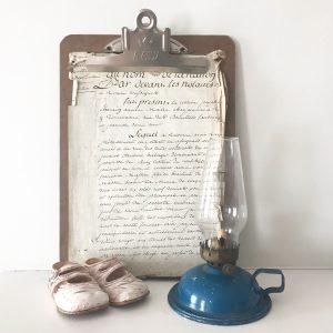 Pretty little vintage blue oil lamp