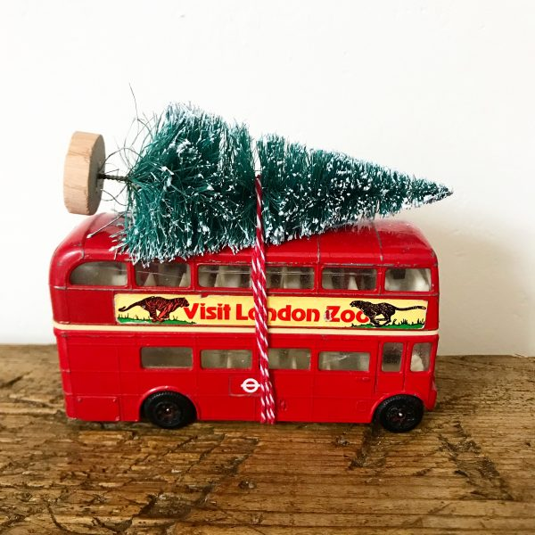 Beautiful vintage bus Christmas decoration