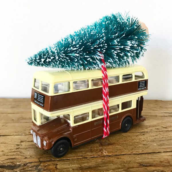 Beautiful vintage toy bus Christmas decoration