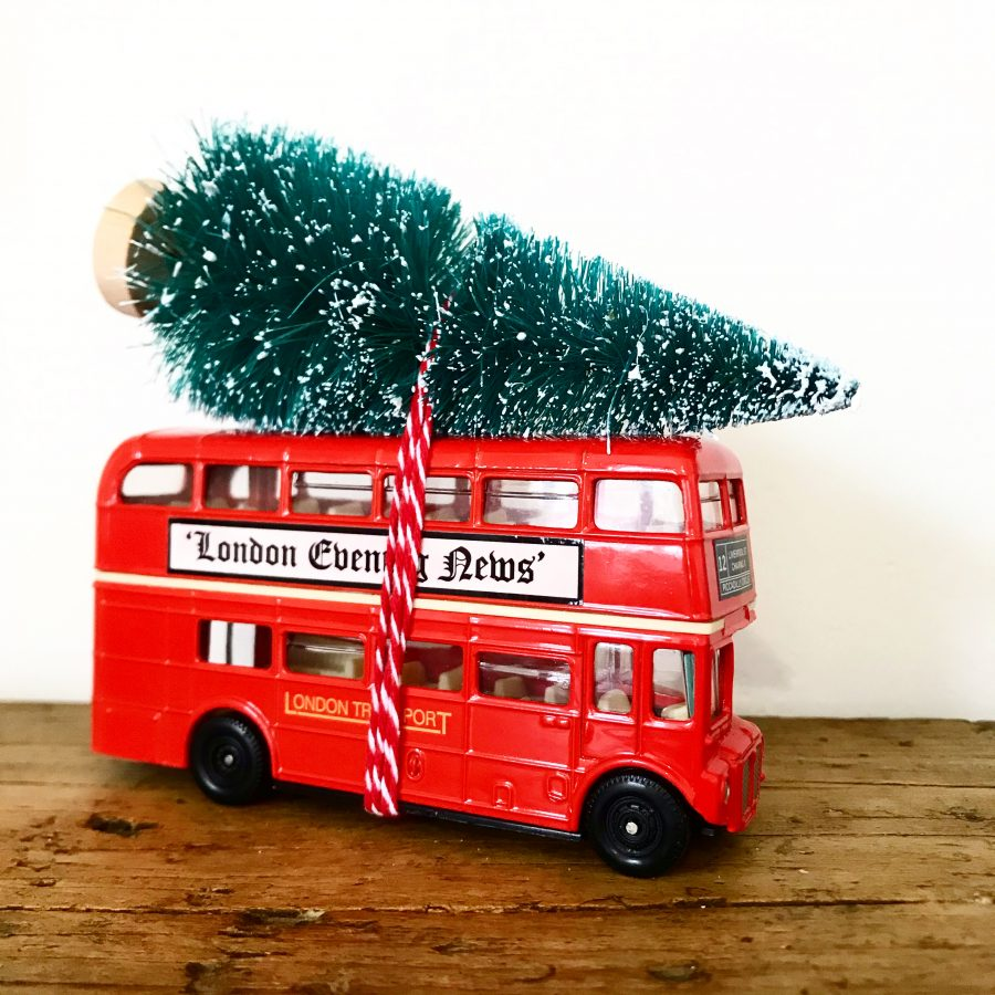 Beautiful vintage London bus Christmas decoration