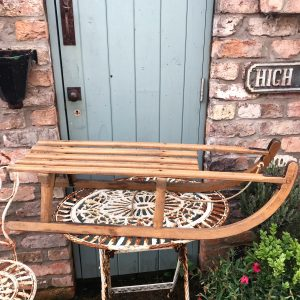 Gorgeous old wooden sleigh