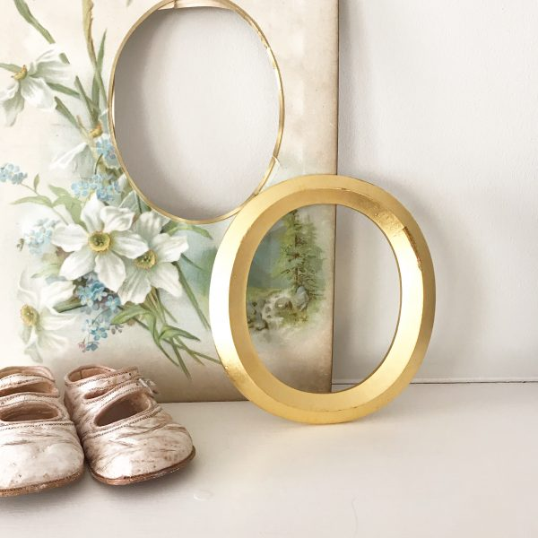 Wonderful reclaimed gold shop letter - O (13cm)
