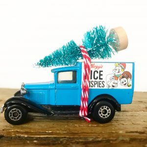 Vintage Rice Krispies van with bottle brush