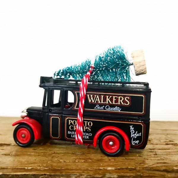 Vintage Walkers Crisps van with bottle brush