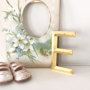 Lovely reclaimed gold shop letter - E (13cm)