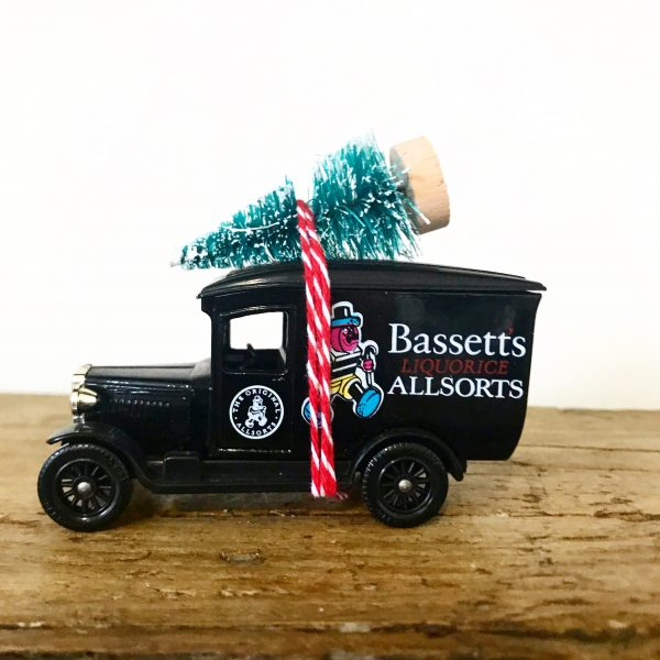 Vintage Bassetts Allsorts van with bottle brush