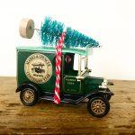 Vintage Marks & Spencers van with bottle brush