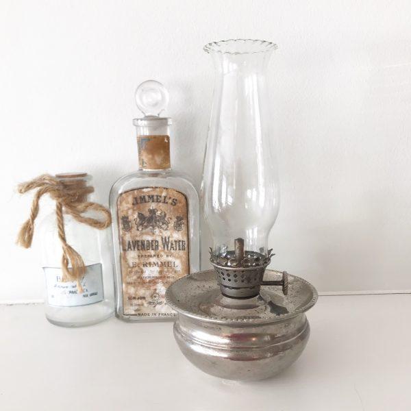 Wonderful little vintage chrome oil lamp