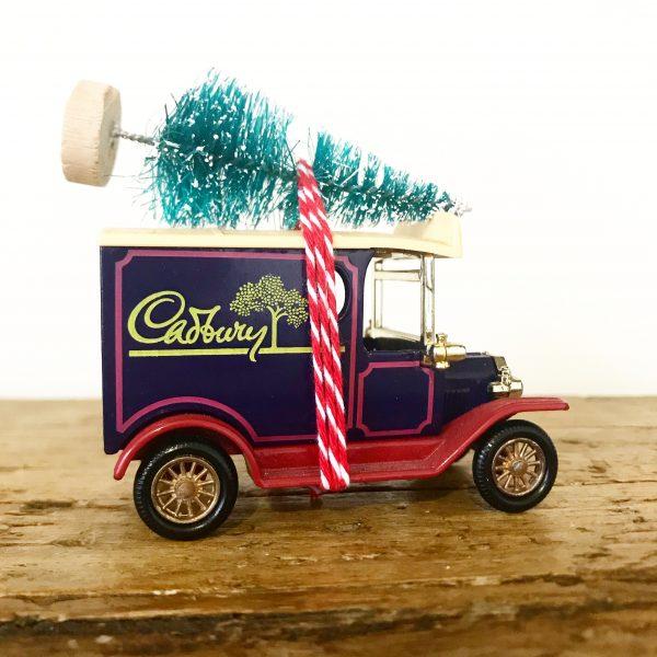 Vintage Cadburys van with bottle brush