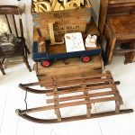 Charming old Davos wooden sleigh