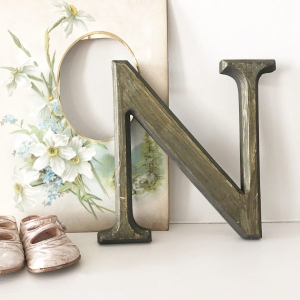 Lovely reclaimed wooden shop letter (N - 21.5cm)