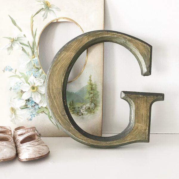 Lovely reclaimed wooden shop letter (G - 21.5cm)