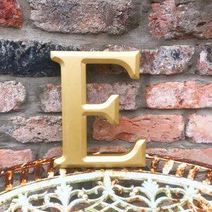 Wonderful gold reclaimed pub letter (E)
