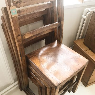 Beautiful vintage wooden child's chair