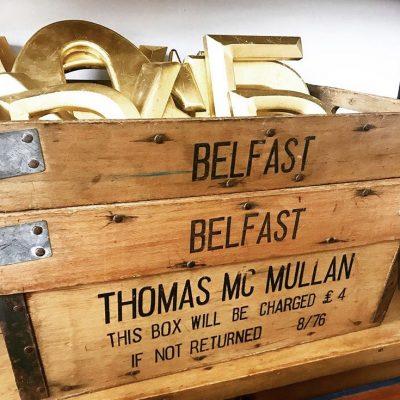Wonderful vintage wooden crate