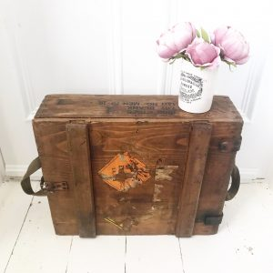 Beautiful old wooden explosives box