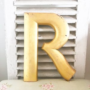 Absolutely stunning reclaimed gold letter (R - 40cm)
