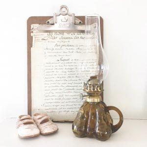 Unusual pear shaped vintage oil lamp