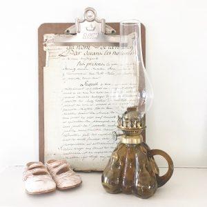 Unusual pear shaped vintage oil lamp